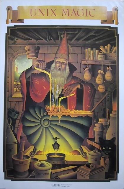 UNIX magic poster
