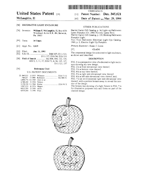 Holiday Hues Decorative Light Enclosure Patent #D345621.pdf preview