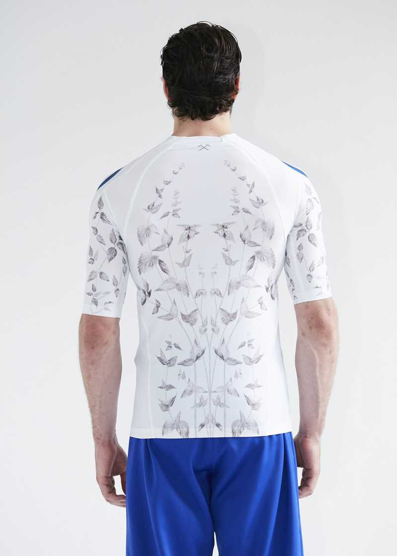 "Aslan printed rasguard for men. GmbH SS20 ""20 20 Vision"" collection."