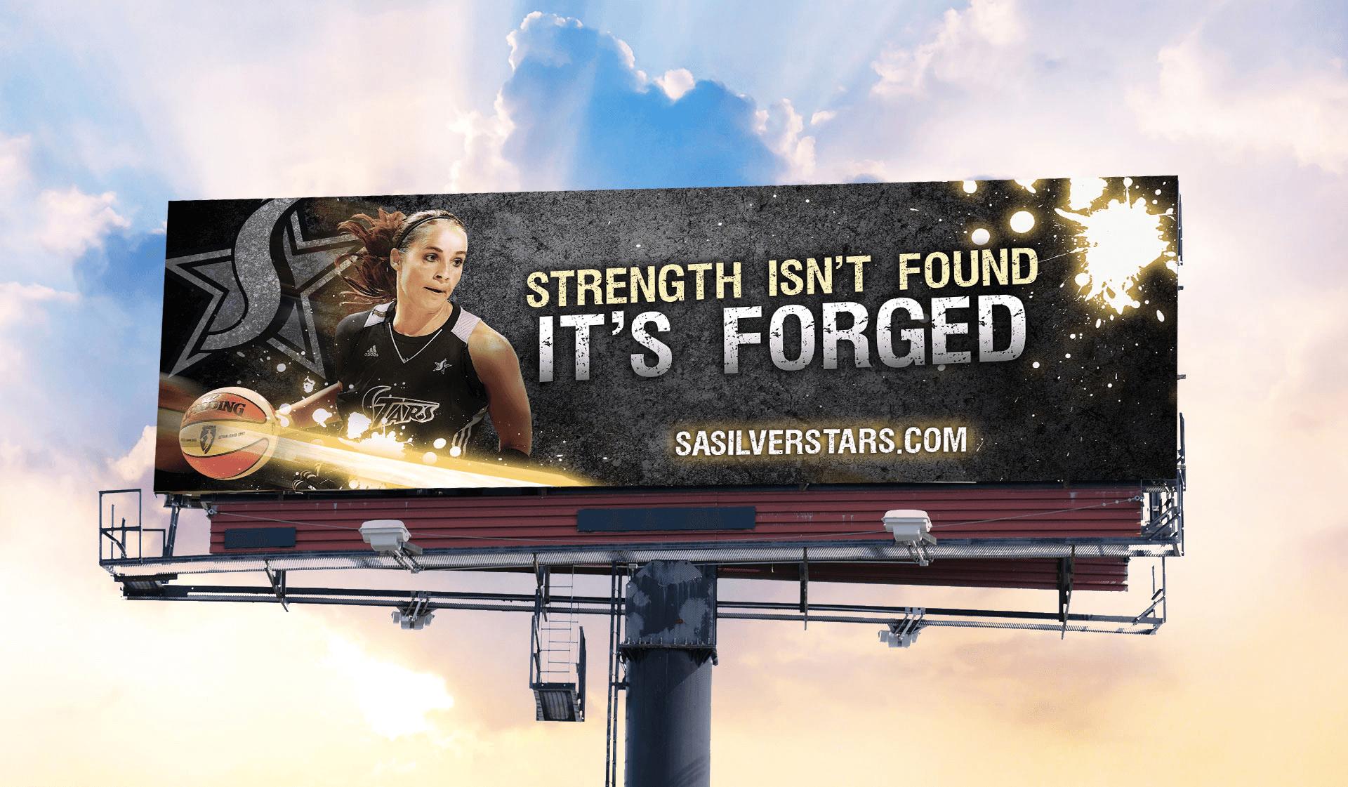 WNBA Silver Stars Billboard