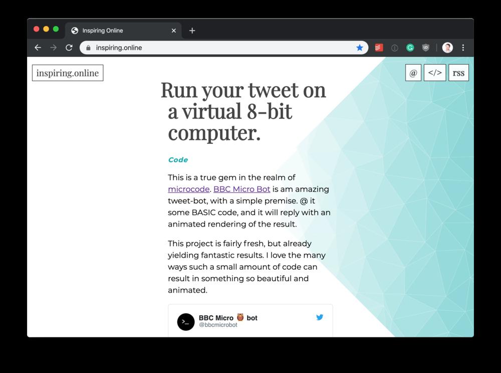 The website itself