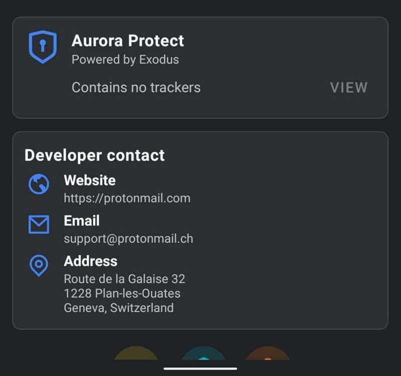 Proton Mail app has no trackers