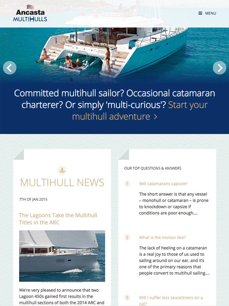 Ancasta Multihulls homepage