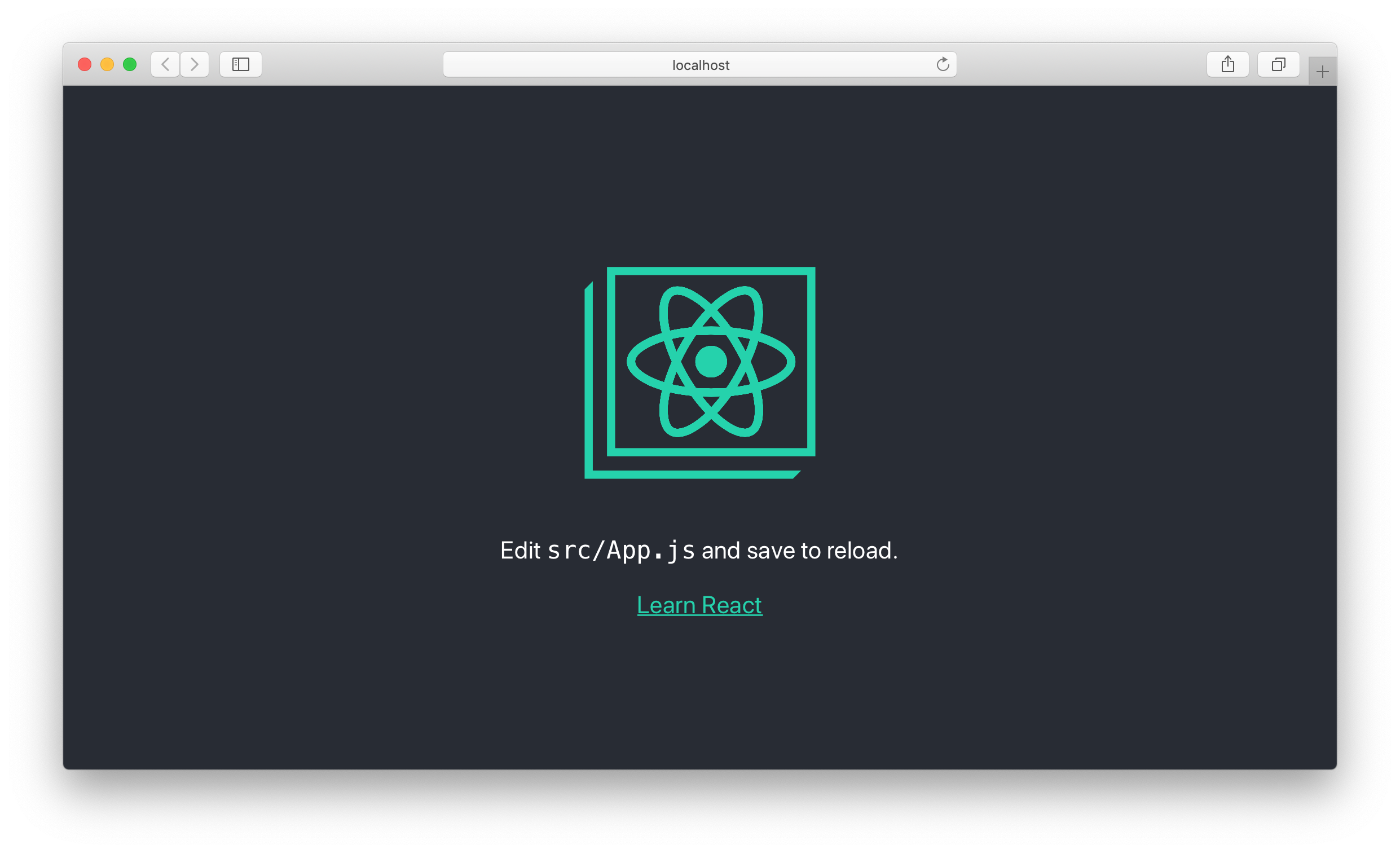 New Create React App screenshot