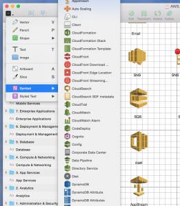 Screenshot of Sketch.app + AWS Simple Icons v2.4