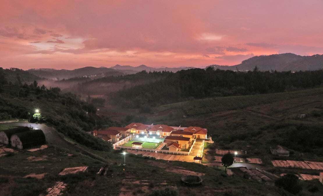 View of Streamside as dusk falls