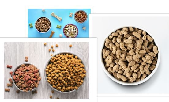 three different types of dog food