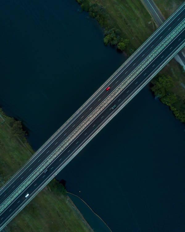 Cars Passing Through Bridge