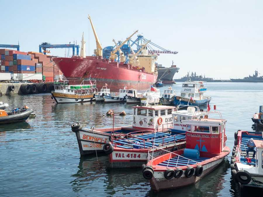 Valparaiso is an active port