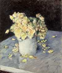 'Yellow Roses in a Vase' by Gustave Caillebotte (1848-1894) in 1882, oil on canvas