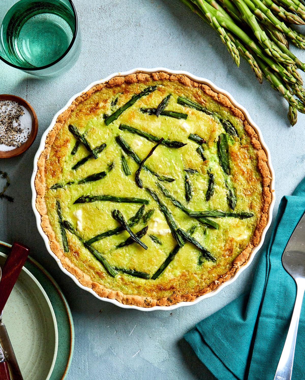 Asparagus Custard Tart With a Gluten Free Crust