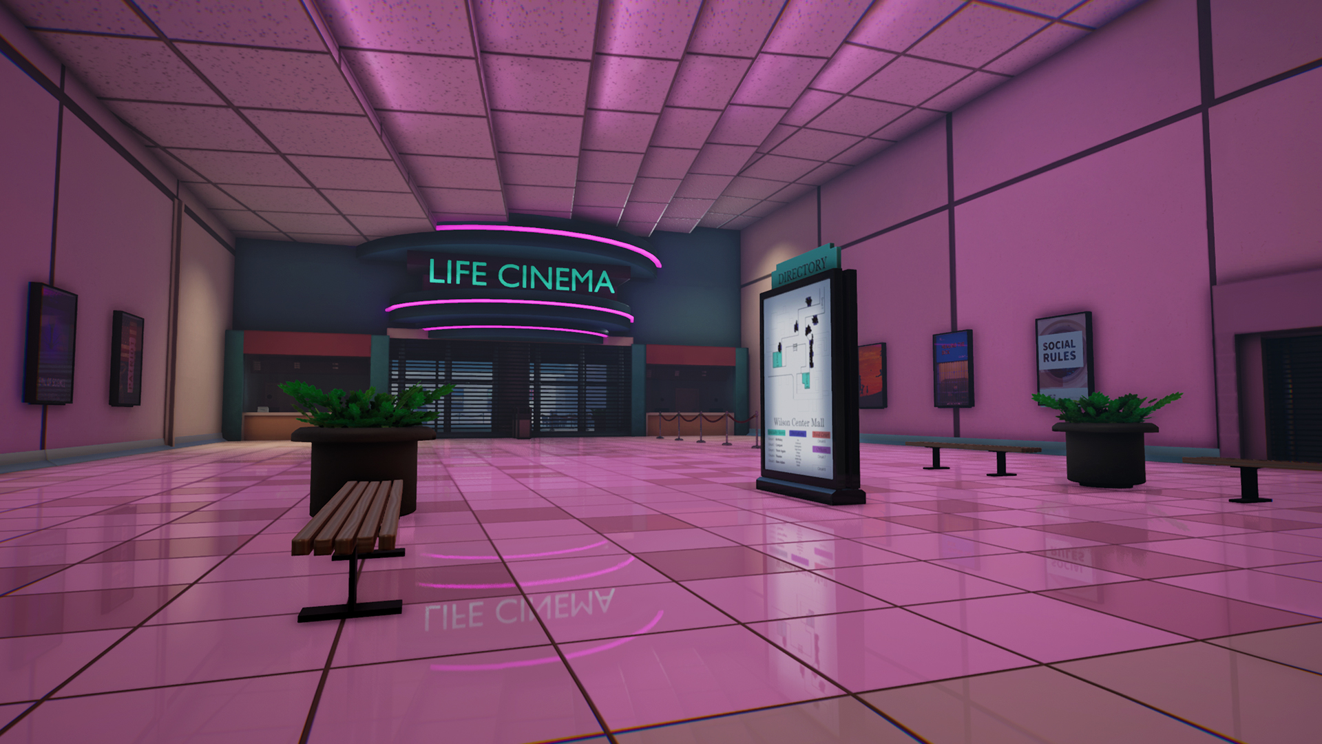 Front of the Life Cinema movie theater