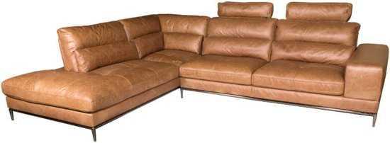 Homingxl Loungebank Titan Chaise Longue Linksleer Cognac 9200000081222450_2 54 cm