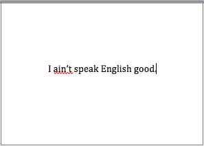 English sentence code