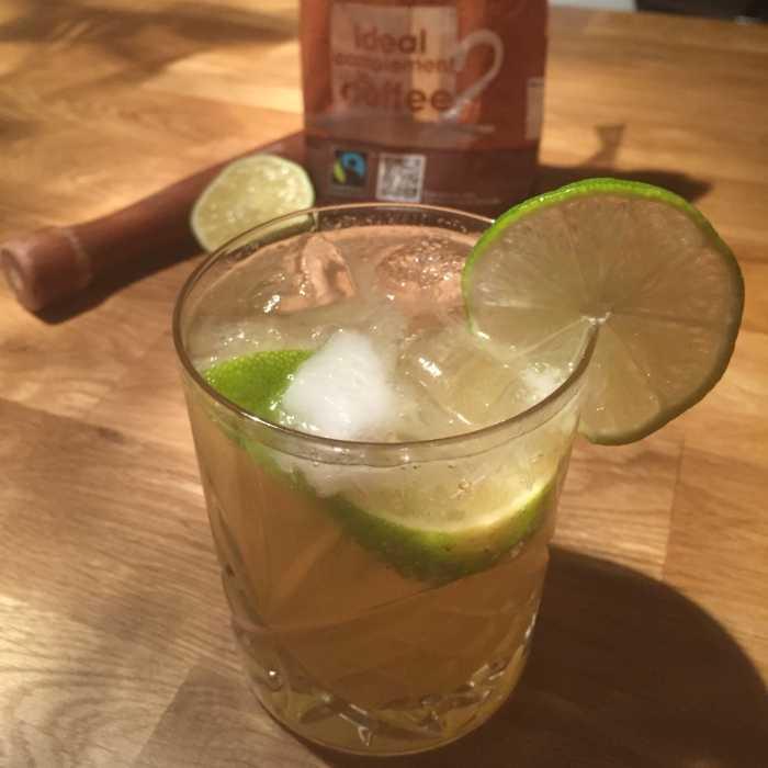 Dark Caipirinha Cocktail