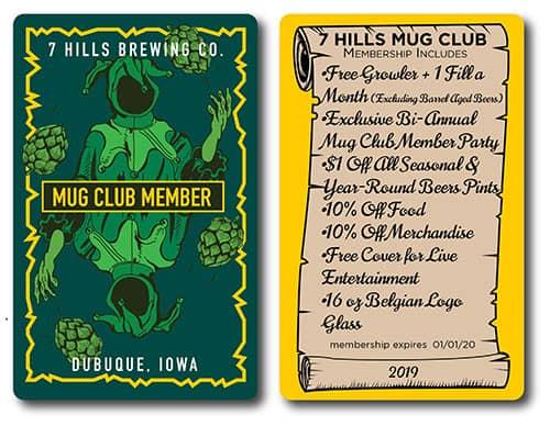 Craft Beer Mug Club Card