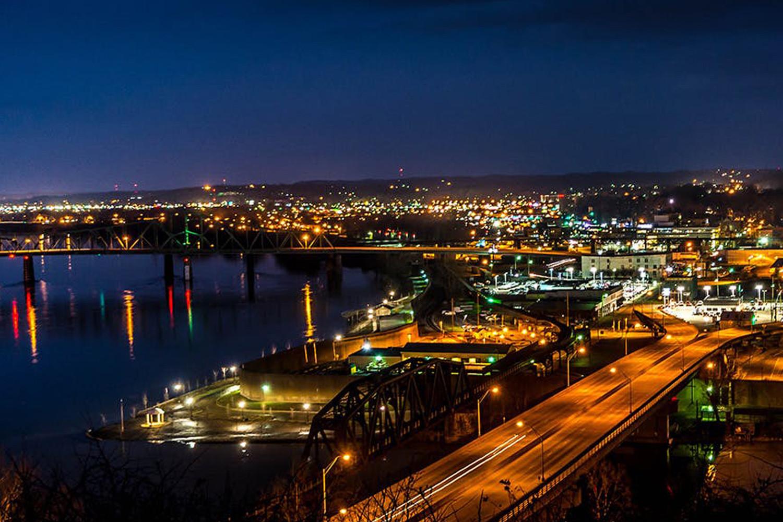 City of Parkersburg at night