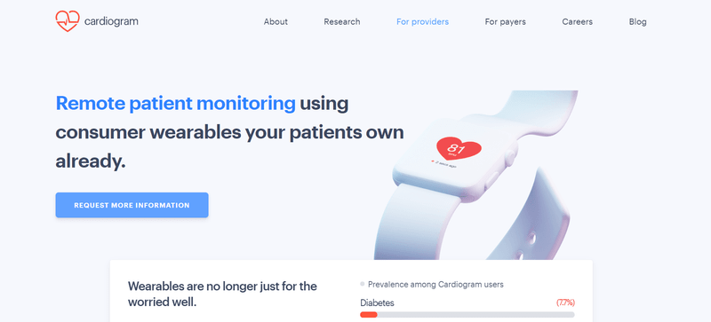 cardiogram homepage