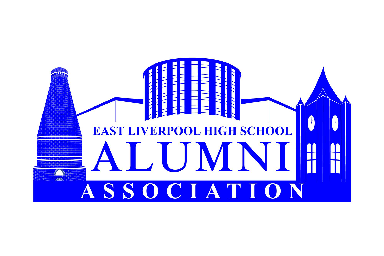 The official logo of the East Liverpool High School Alumni Association of East Liverpool, Ohio.
