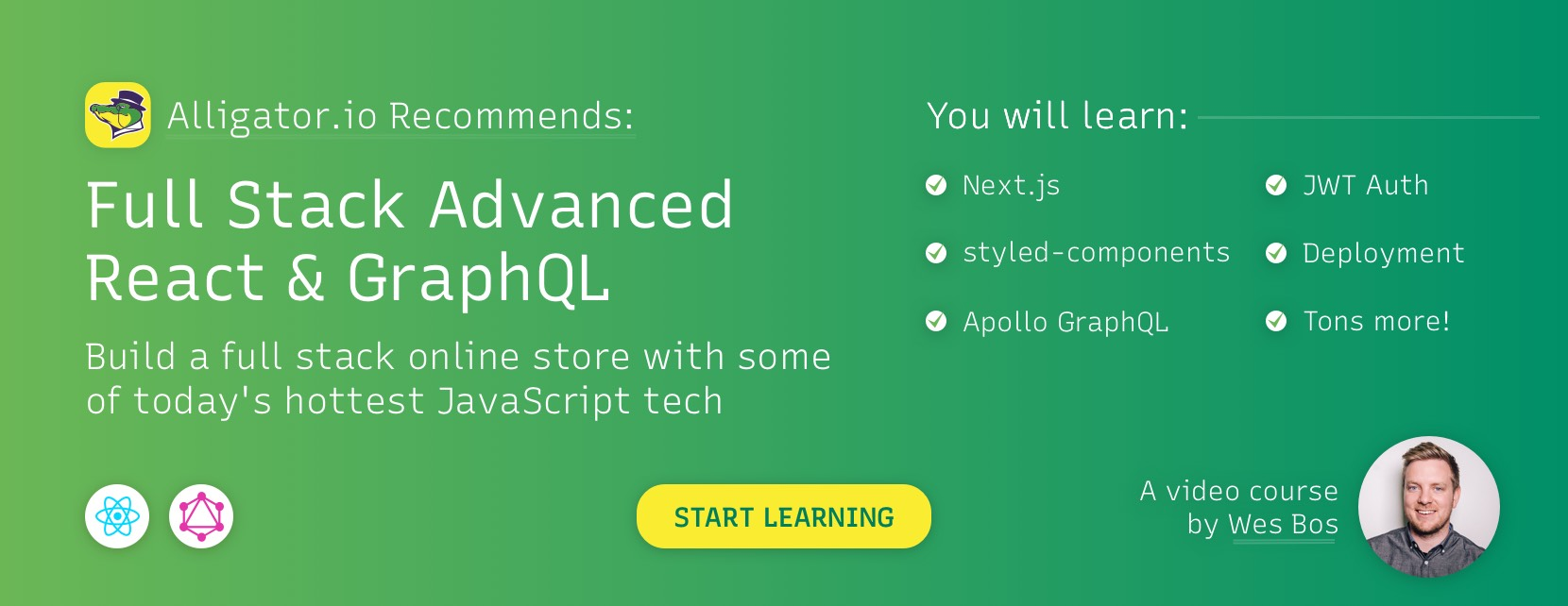 Recommended React and GraphQL course