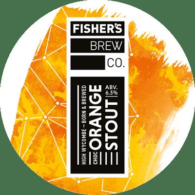 Fisher's Chocolate Orange Stout keg badge