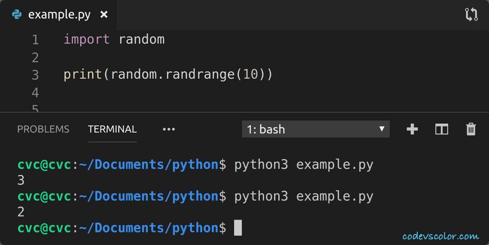 python print random integer