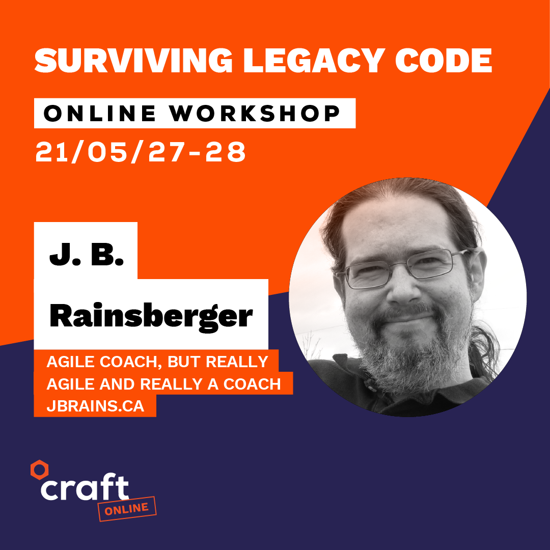 Surviving Legacy Code running May 27-28, 2021 in the Central European Time Zome