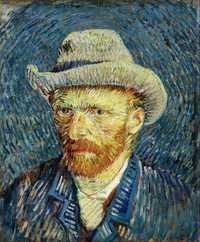 Self-Portrait with Grey Felt Hat by Vincent Van Gogh, Winter 1887–88. Van Gogh Museum, Amsterdam