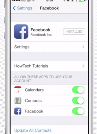 How to Sync Facebook Pictures with phone contacts (iphone