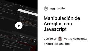 Manipulación de Arreglos con Javascript