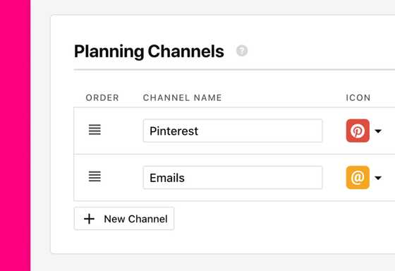 Planning features