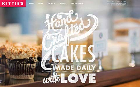 Kittie's Cakes website screenshot