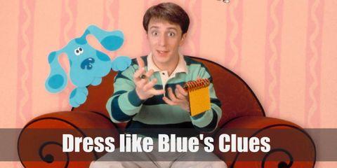 Dress Like Blue and Steve (Blue's Clues) Costume
