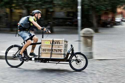 La bici cargo utilizzata da UBM Bologna (Ph. Gianni Mazzotta)