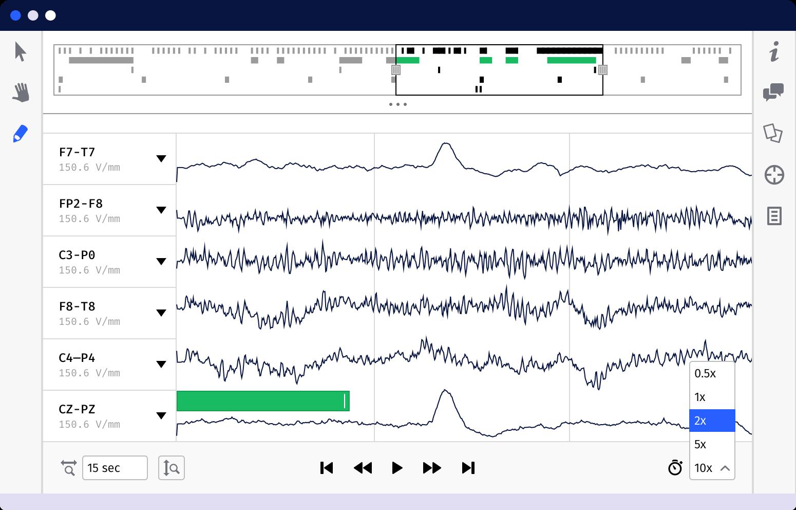 Screenshot of our data catalog