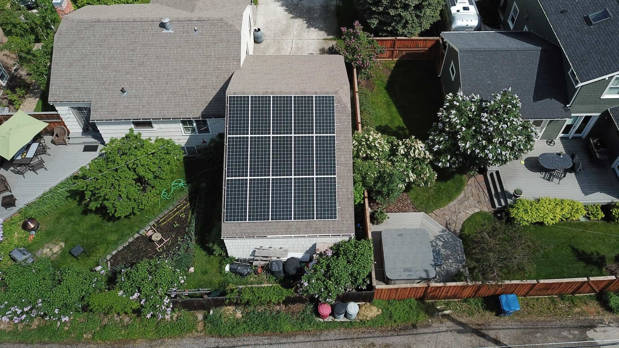 16 Solar Panel on Roof In Montana