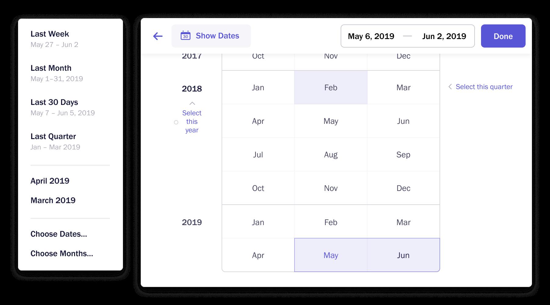 Date-picker screenshot