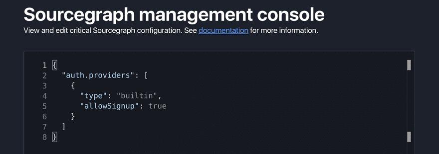 Management console