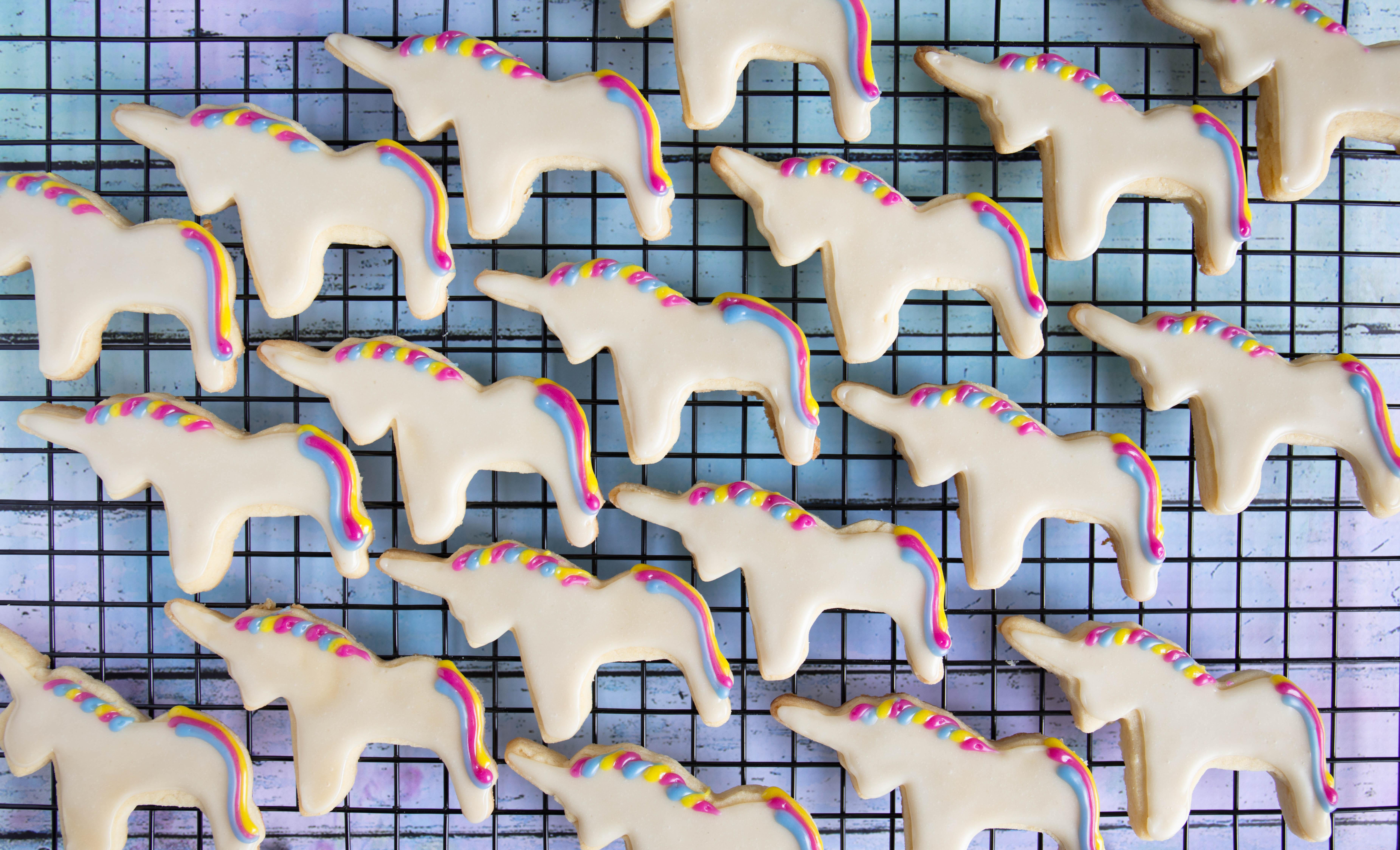 vegan unicorn cookies