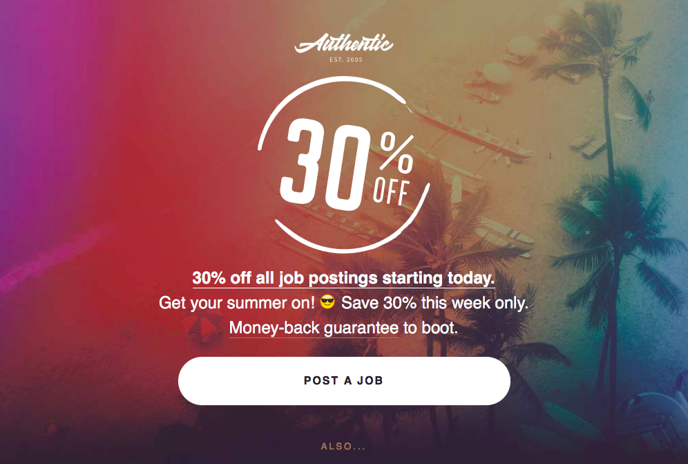Authentic Jobs email