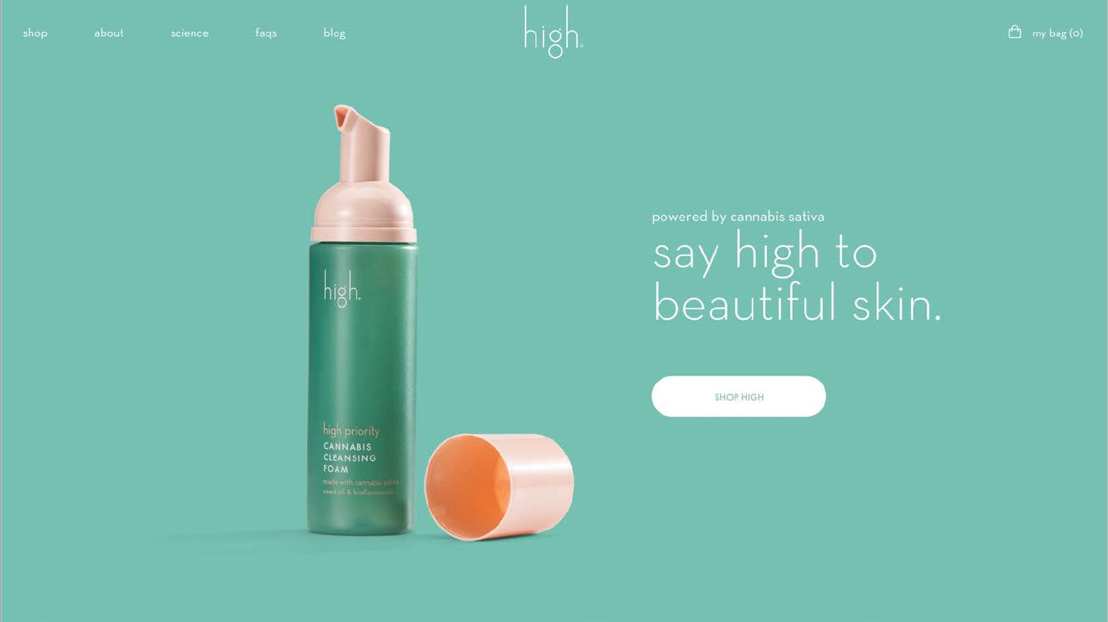 High Beauty Homepage Snapshot
