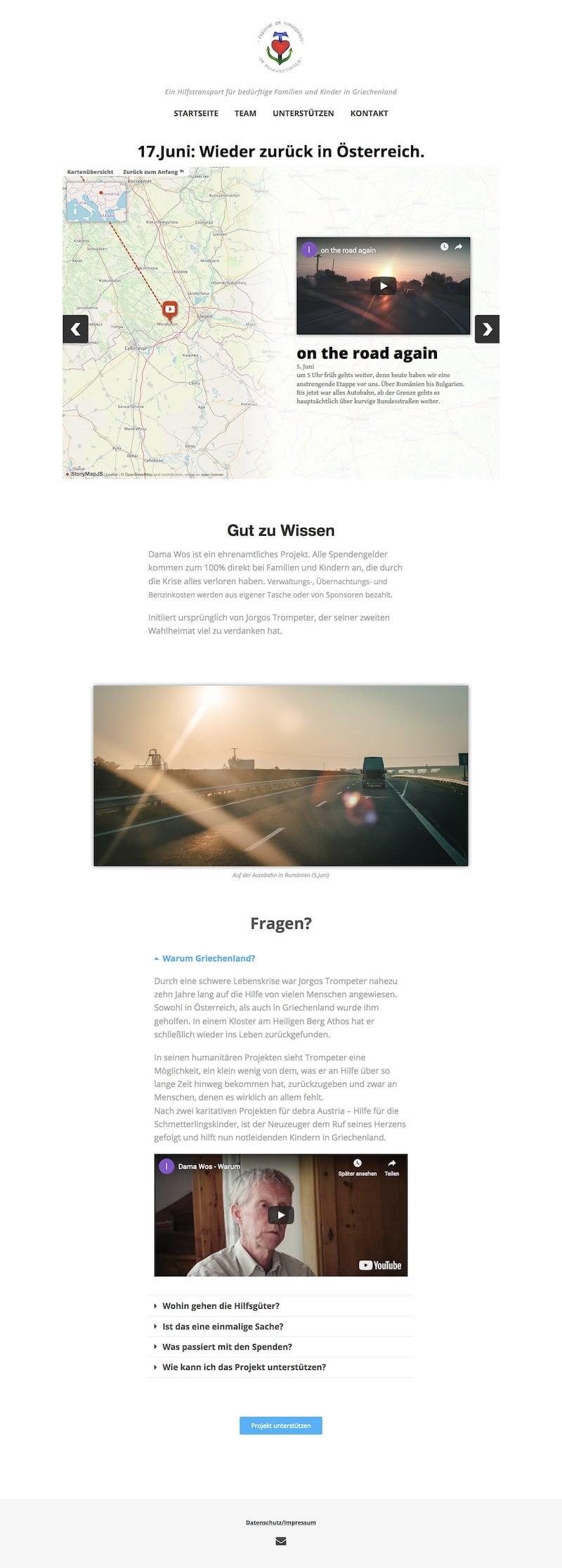 Damawos Landing Page Screenshot