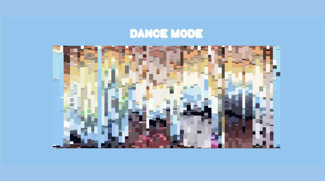 A study of colour composition in the Bluey episode of Dance Mode