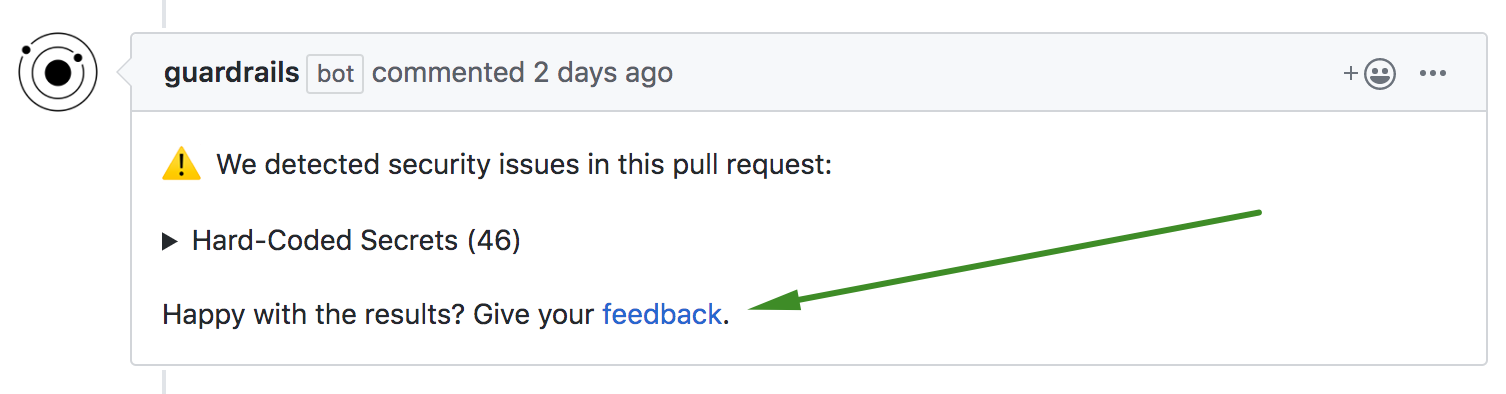 PR comment feedback