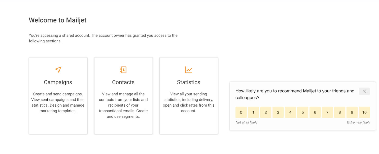 Rating scale for user feedback