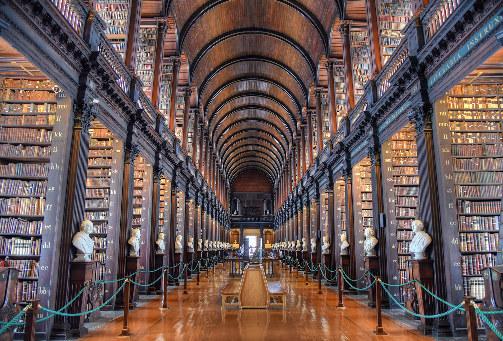 long room in the old library at trinity college