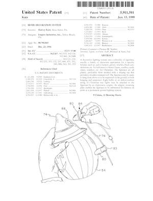 Empire Home Decoration System Patent #5911501.pdf preview