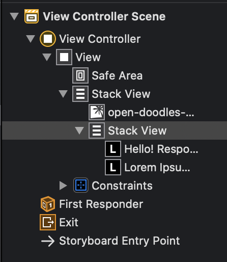 Nested stack view