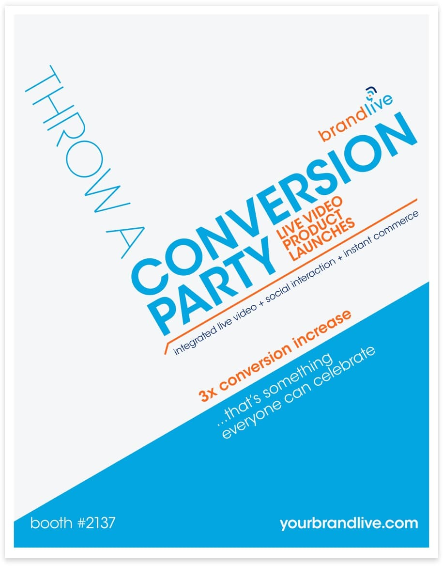 event poster design for BrandLive