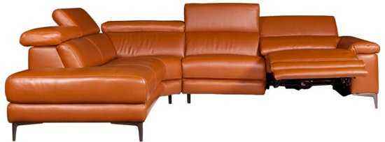 Hoekbank Lupine Chaise Longue Links Leer Oranje M5659 2 25 X 2 90 Mtr Breed 9200000083646643 290x98 cm